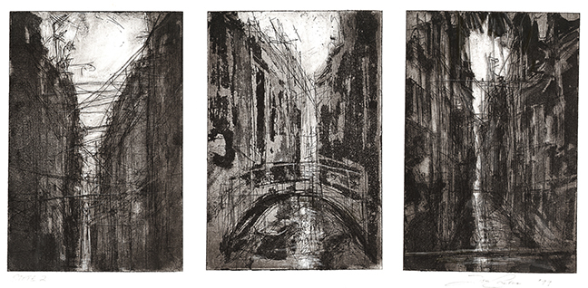 Venice, etching