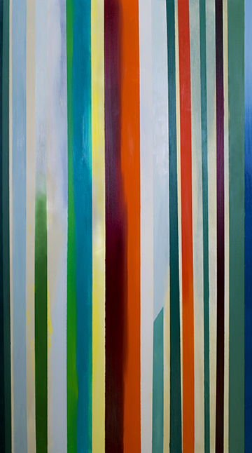 Harp #2, oil on canvas, 50x28""